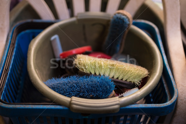 High angle view of brushes in bucket Stock photo © wavebreak_media