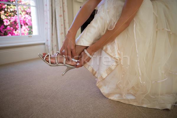 低い セクション 花嫁 ドレス 着用 サンダル ストックフォト © wavebreak_media