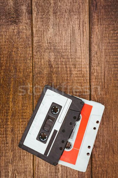 Ansicht alten Band Holz Schreibtisch Stock foto © wavebreak_media