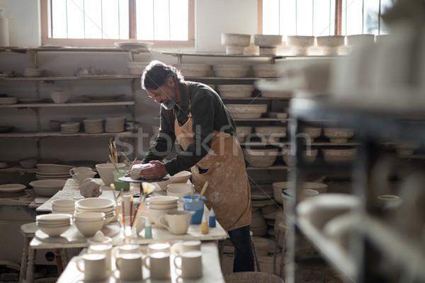 мужчины глина Керамика семинар бизнеса человека Сток-фото © wavebreak_media