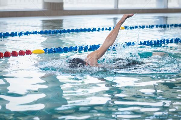 Montare uomo nuoto piscina acqua felice Foto d'archivio © wavebreak_media