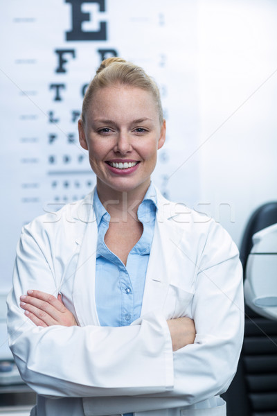 Female optometrist smiling in ophthalmology clinic Stock photo © wavebreak_media