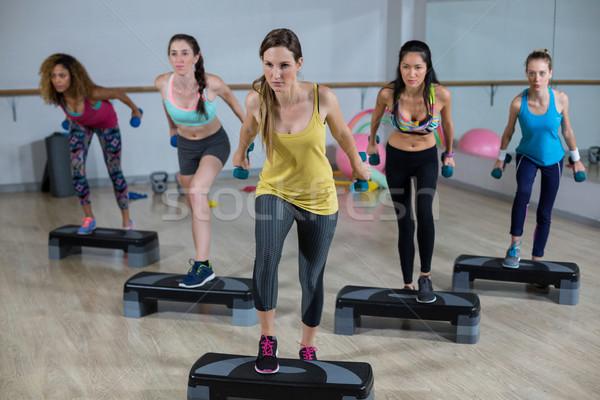 Gruppo donne aerobico donna fitness Foto d'archivio © wavebreak_media