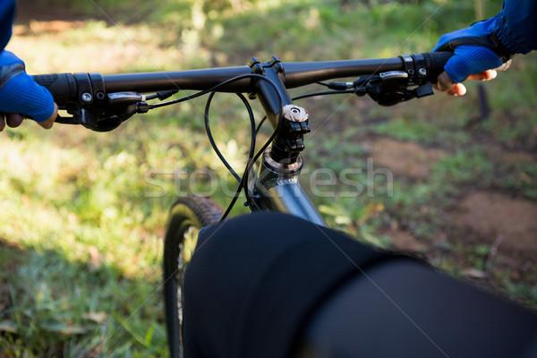 Erkek dağ binicilik bisiklet Stok fotoğraf © wavebreak_media