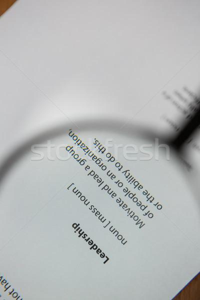 Leadership text on paper Stock photo © wavebreak_media