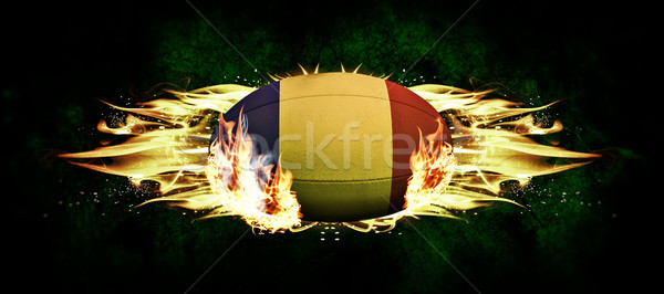 Image Roumanie ballon de rugby sombre sport Photo stock © wavebreak_media