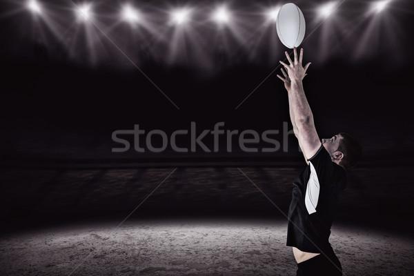 Obraz rugby gracz rugby ball Spotlight Zdjęcia stock © wavebreak_media
