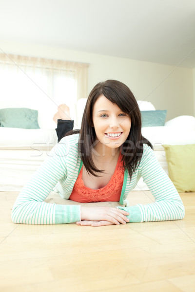Couché étage salon maison détendre Photo stock © wavebreak_media