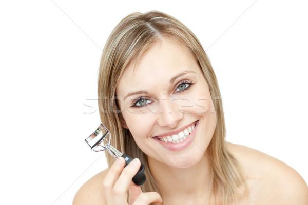 Alegre mulher cílios sorrir olho Foto stock © wavebreak_media