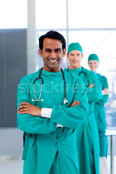 Cirurgiões em pé hospital médico enfermeira Foto stock © wavebreak_media