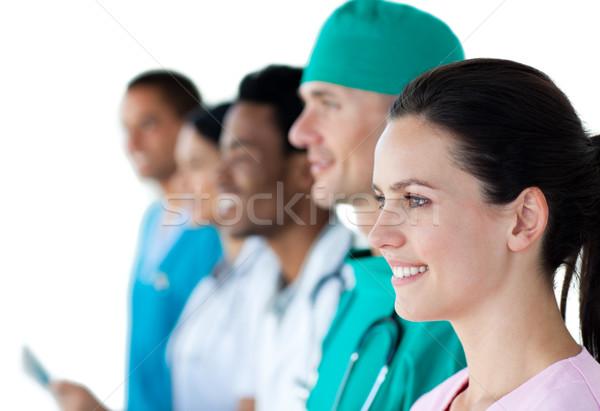 醫生 組 顯示 多樣 常設 線 商業照片 © wavebreak_media