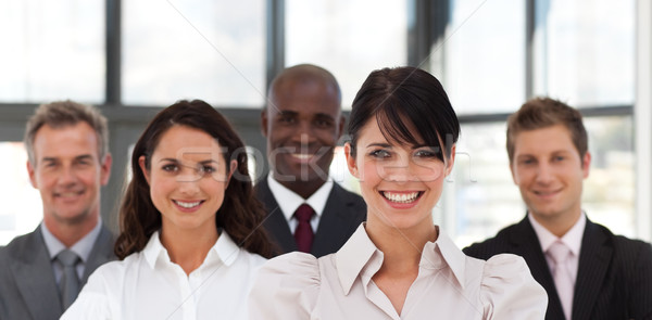 Portré néhány üzletemberek néz kamera iroda Stock fotó © wavebreak_media