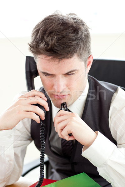 Thoughtful businesswoman on phone Stock photo © wavebreak_media