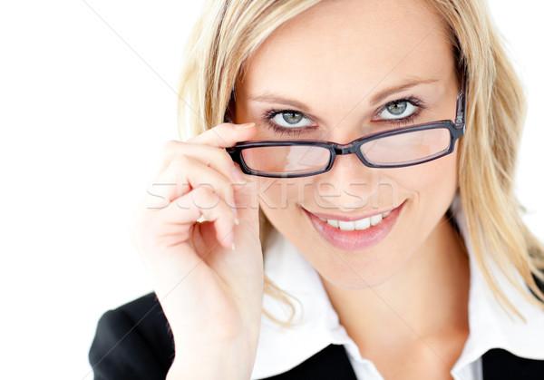 カリスマ的な 小さな 女性実業家 笑みを浮かべて カメラ 着用 ストックフォト © wavebreak_media