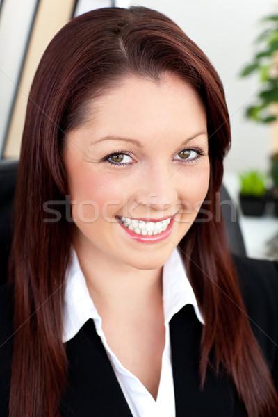 Portret piękna kobieta interesu uśmiechnięty kamery biuro Zdjęcia stock © wavebreak_media