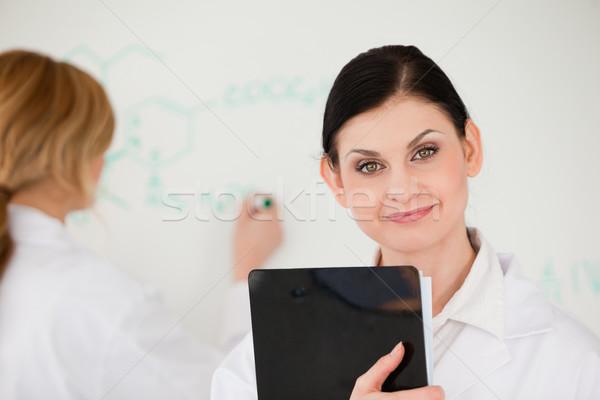 Cientista fórmula assistente lab cara educação Foto stock © wavebreak_media