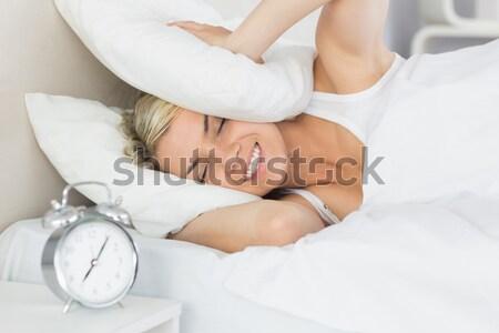 Close up of a woman sleeping in her bedroom Stock photo © wavebreak_media
