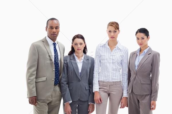 Equipe de negócios lado três mulheres um homens Foto stock © wavebreak_media