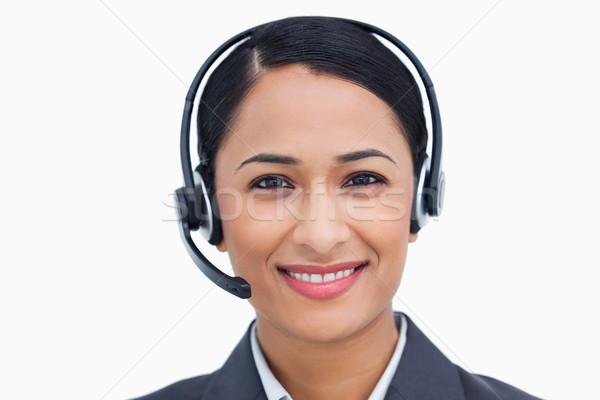 дружественный улыбаясь Call Center агент белый Сток-фото © wavebreak_media