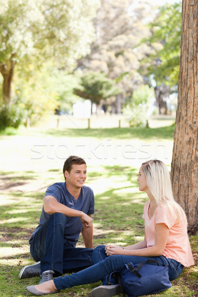 Students flirting in a park Stock photo © wavebreak_media