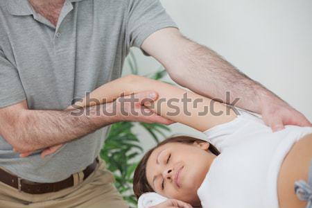 指 マッサージ 膝 ルーム 医師 ストックフォト © wavebreak_media