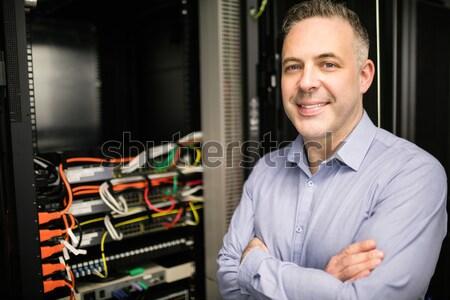 человека Постоянный центр обработки данных серверы сеть Сток-фото © wavebreak_media