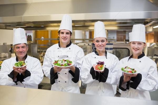 Повара различный кухне продовольствие счастливым Сток-фото © wavebreak_media