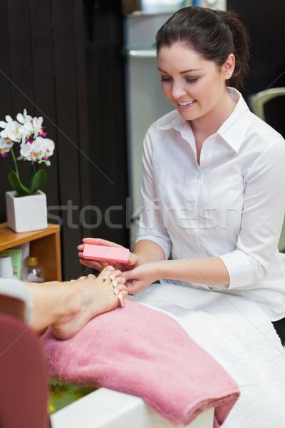 Donna toe chiodi spa centro Foto d'archivio © wavebreak_media