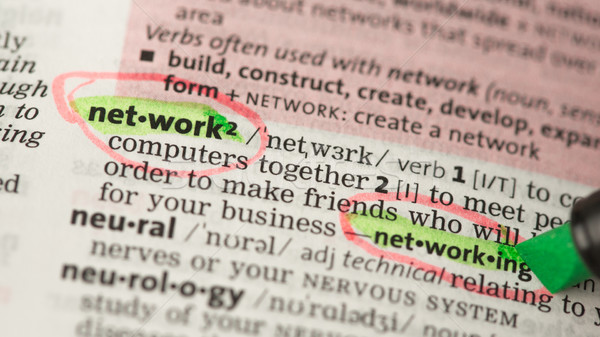 Network definition circled and highlighted  Stock photo © wavebreak_media