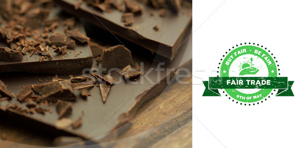 Image juste échanges graphique chocolat Photo stock © wavebreak_media