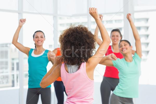 фитнес класс инструктор пилатес осуществлять Сток-фото © wavebreak_media