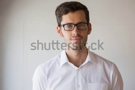 Affaires souriant caméra verres Photo stock © wavebreak_media