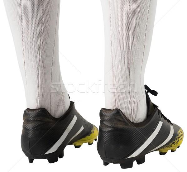 Voetbal laarzen witte zwarte schoen Stockfoto © wavebreak_media