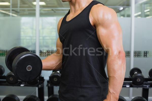 Muscular hombre gimnasio vista lateral Foto stock © wavebreak_media