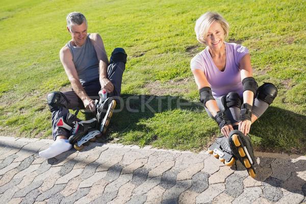 активный готовый трава человека Сток-фото © wavebreak_media