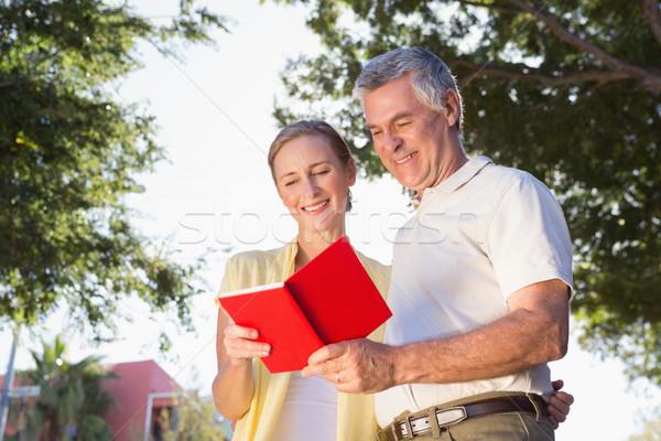 Happy senior couple using the guidebook  Stock photo © wavebreak_media