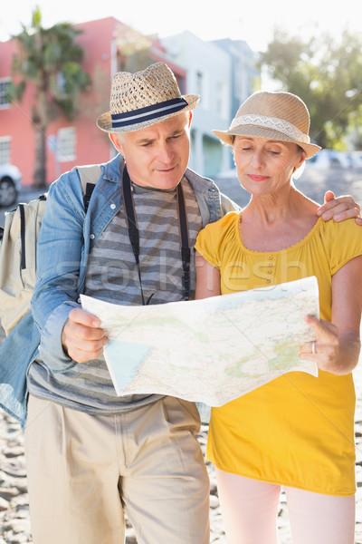 幸せ 観光 カップル 地図 市 ストックフォト © wavebreak_media