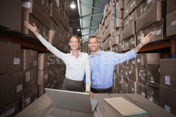 склад команда ноутбука большой бизнеса Сток-фото © wavebreak_media