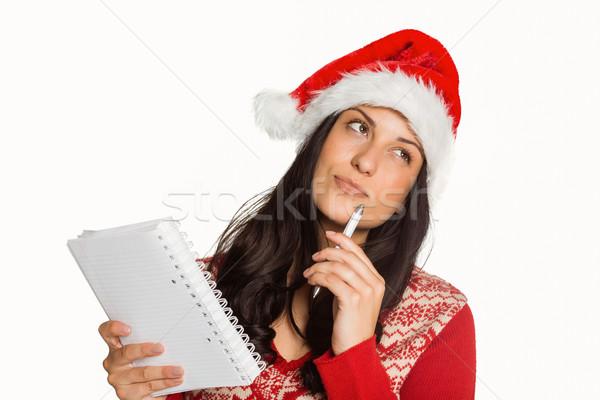 Woman thinking what to write Stock photo © wavebreak_media