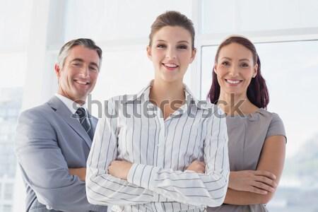 Giovani uomini d'affari braccia incrociate ufficio ritratto felice Foto d'archivio © wavebreak_media