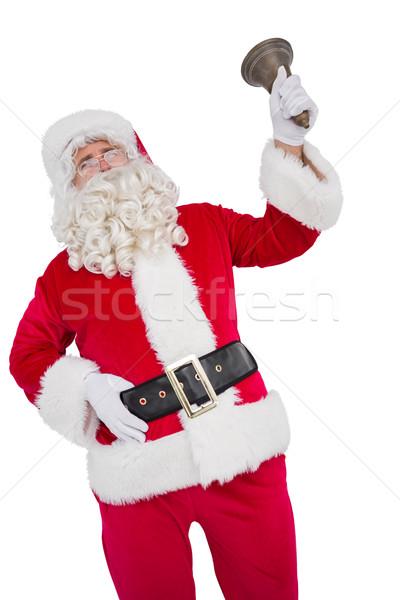 幸せ サンタクロース 鐘 白 笑みを浮かべて 男性 ストックフォト © wavebreak_media
