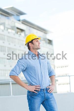 Architect blauwdruk mannelijke witte professionele ingenieur Stockfoto © wavebreak_media