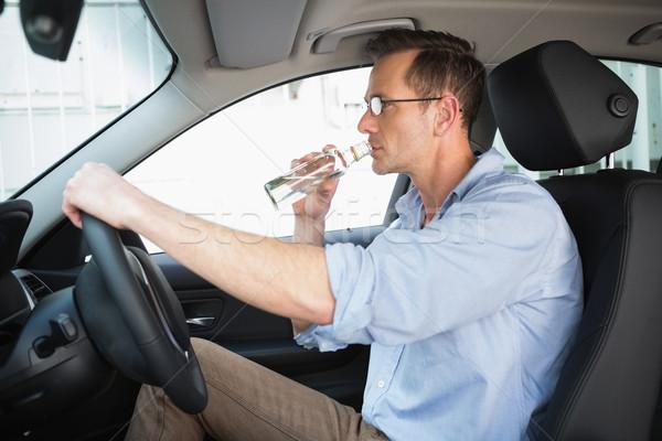 человека вождения пьяный автомобилей бутылку Сток-фото © wavebreak_media