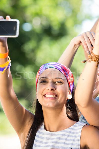 Excitado música ventilador festival fiesta multitud Foto stock © wavebreak_media