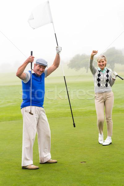 Golfe casal verde nebuloso dia Foto stock © wavebreak_media