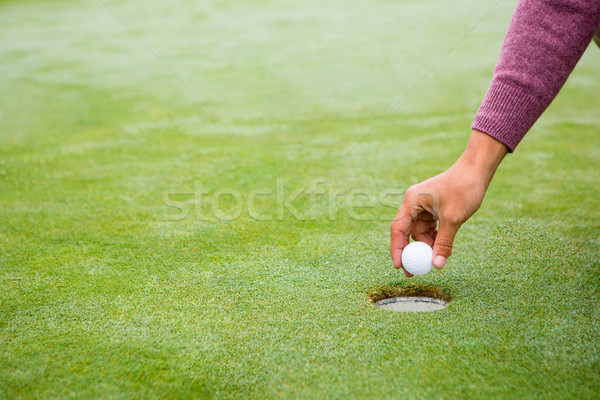 Golfer trying to flick ball into hole Stock photo © wavebreak_media