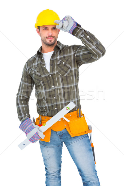 Repairman holding spirit level  Stock photo © wavebreak_media