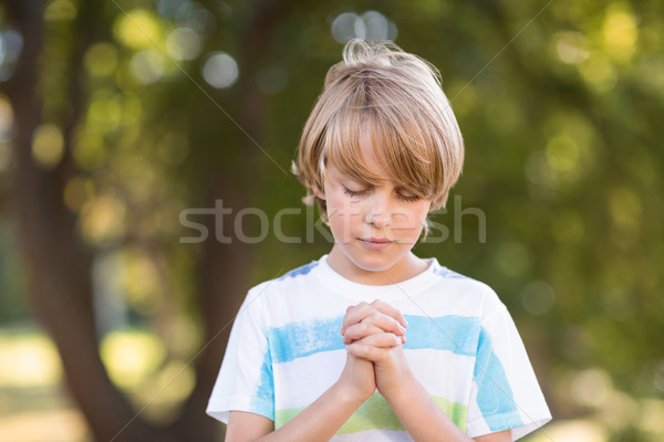 Little boy saying his prayers Stock photo © wavebreak_media