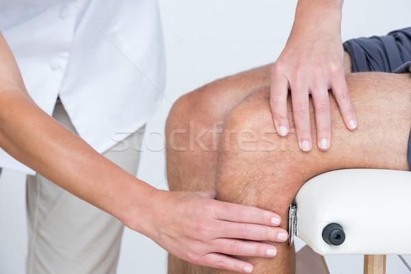 Lekarza pacjenta kolano medycznych biuro Zdjęcia stock © wavebreak_media