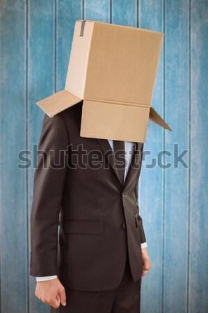 Anônimo empresário mãos para baixo cinza caixa Foto stock © wavebreak_media